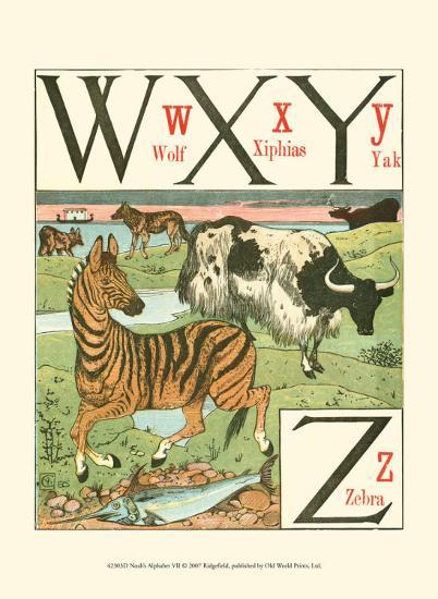 Noah's Alphabet VII-Walter Crane-Art Print