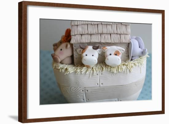 Noah's Ark Cows Close Up--Framed Photographic Print