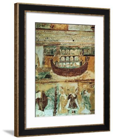 Noah's Ark During the Flood, circa 1100--Framed Giclee Print