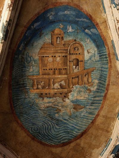 Noah's Ark, Fresco, 1562, Tecamachalco, Puebla, Mexico-Juan Gerson-Photographic Print