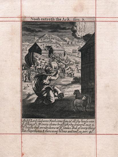 Noah's Ark - the animals going in two by two, 1716. Artist: Unknown-Unknown-Giclee Print
