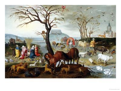 Noah's Ark: The Animals Leave the Ark-Jacob Bouttats-Giclee Print