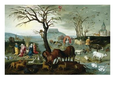 Noah's Ark-The Animals Leave the Ark-Jacob Bouttats-Premium Giclee Print