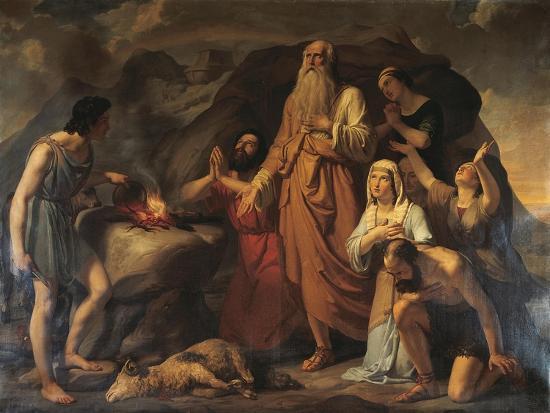 Noah's Sacrifice-Carlo Bellosio-Giclee Print