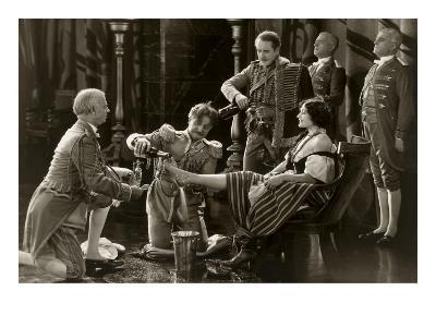 Nobility Pouring Champagne over Woman's Foot--Art Print
