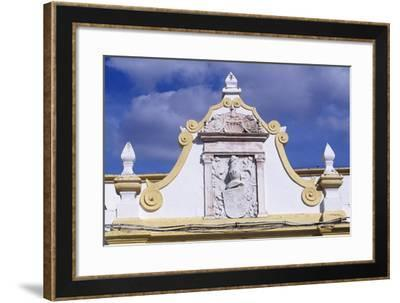 Noble Crest Above the Entrance Gate of a Building in Santa Clara Largo, Elvas, Portugal--Framed Giclee Print