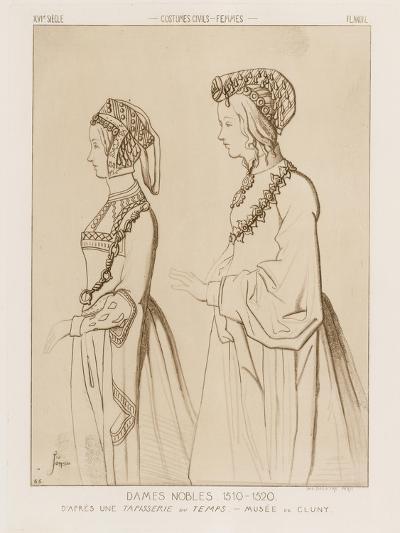 Noble Women, 1510-1520-Raphael Jacquemin-Giclee Print