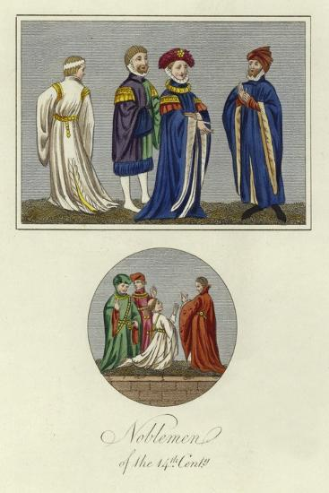 Noblemen of the 14th Century--Giclee Print