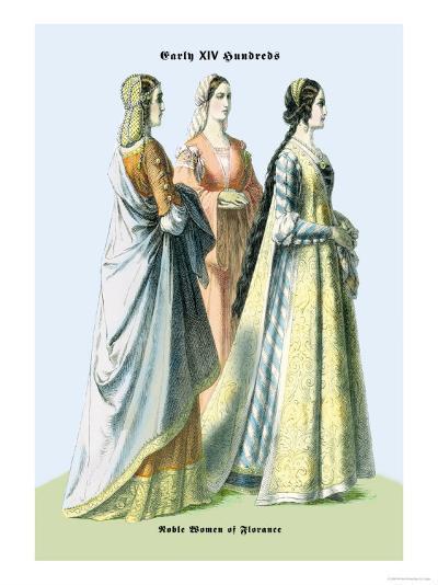 Noblewomen of Florence, 15th Century-Richard Brown-Art Print