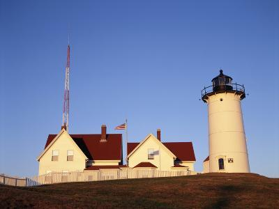 Nobska Lighthouse, Woods Hole, Cape Cod, Massachusetts, USA-Walter Bibikow-Photographic Print