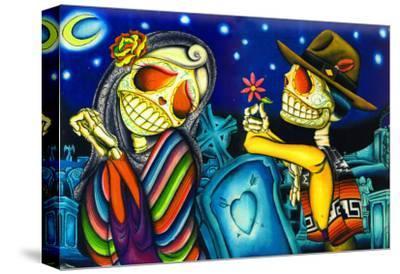 Noche de los Muertos-Dave Sanchez-Stretched Canvas Print