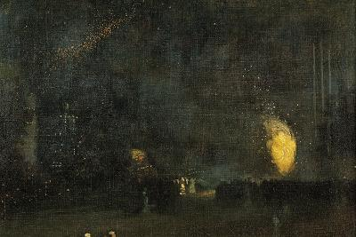Nocturne: Black and Gold - the Fire Wheel-James Abbott McNeill Whistler-Giclee Print