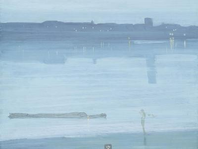 Nocturne: Blue and Silver - Chelsea-James Abbott McNeill Whistler-Giclee Print