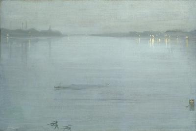 Nocturne: Blue and Silver - Cremorne Lights-James Abbott McNeill Whistler-Giclee Print