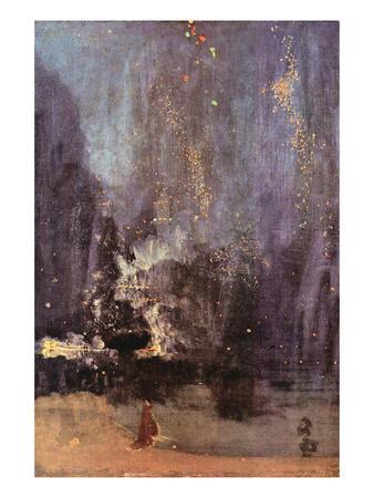 Nocturne in Black and Gold, the Falling Rocket-James Abbott McNeill Whistler-Art Print