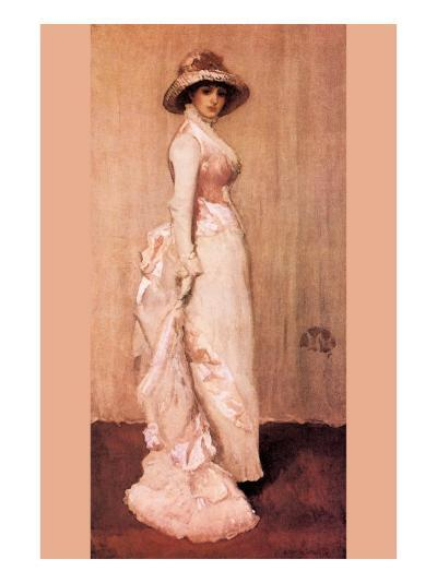 Nocturne In Pink and Gray, Portrait of Lady Meux-James Abbott McNeill Whistler-Art Print