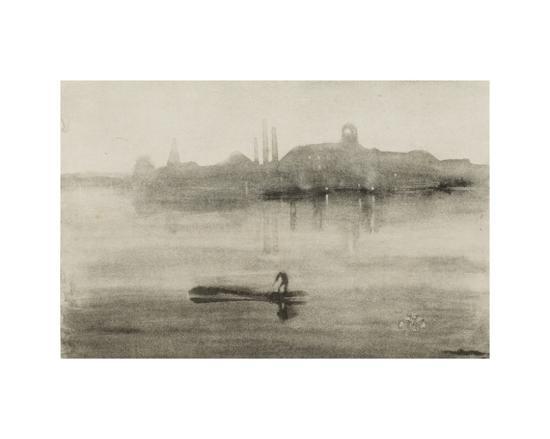 Nocturne-James Abbott McNeill Whistler-Giclee Print