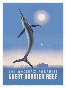 Great Barrier Reef - Queensland, Australia - The Anglers' Paradise - Swordfish by Noel Pasco Lambert