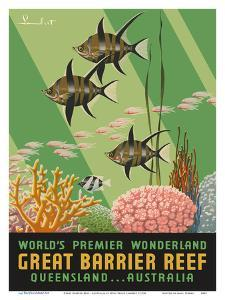 Great Barrier Reef - Queensland, Australia - World's Premier Wonderland by Noel Pasco Lambert