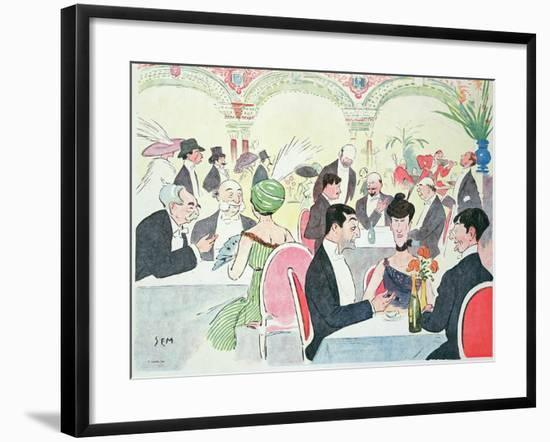 Noel Peter's Restaurant in Paris, 1914 (Colour Litho)-Sem-Framed Giclee Print