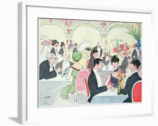 Noel Peter's Restaurant in Paris, 1914 (Colour Litho)-Sem-Framed Giclee Print