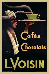 L. Voisin Cafes and Chocolats, 1935 by Noel Saunier