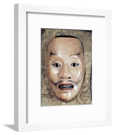Noh mask representing a samurai, Japan, 1390-Werner Forman-Framed Photographic Print