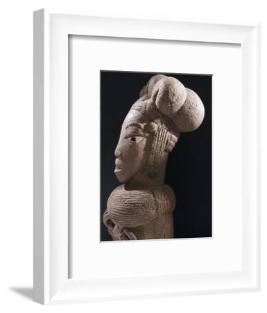 Nok terracotta bust of a woman, Nigeria, 900BC - 200AD-Werner Forman-Framed Photographic Print