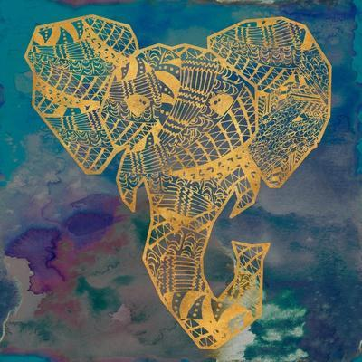 Gold Boho Elephant