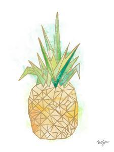Watercolor Origami Pineapple by Nola James
