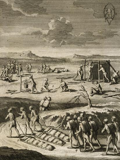 Nomad Camp in Canada-Joseph Francois Lafitau-Giclee Print