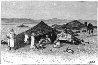 Nomad Encampment, Sahara, C1890- Hildibrand-Giclee Print