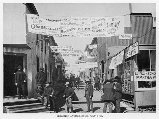 Nome, Alaska, During the Gold Rush--Photographic Print