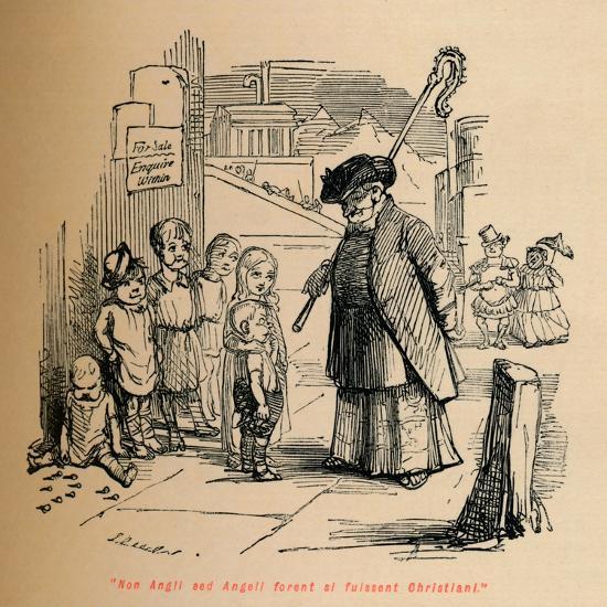 'Non Angli sed Angeli forent si fuissent Christiani', c1860, (c1860)-John Leech-Giclee Print