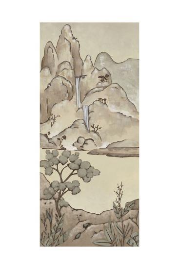 Non-Emb. Chinoiserie Landscape II-Chariklia Zarris-Art Print