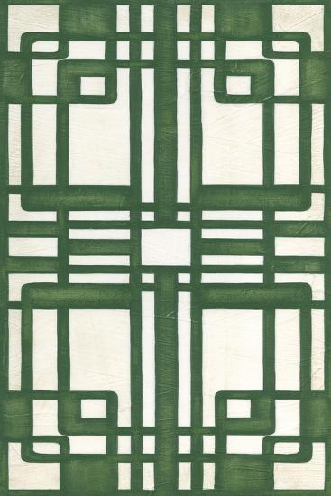 Non-Embellish Emerald Deco Panel II-Erica J^ Vess-Art Print