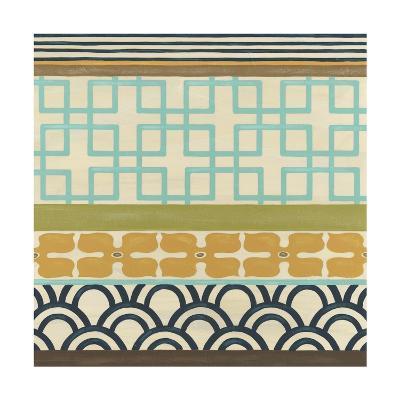 Non-Embellish Geometric Frieze III-Erica J^ Vess-Art Print
