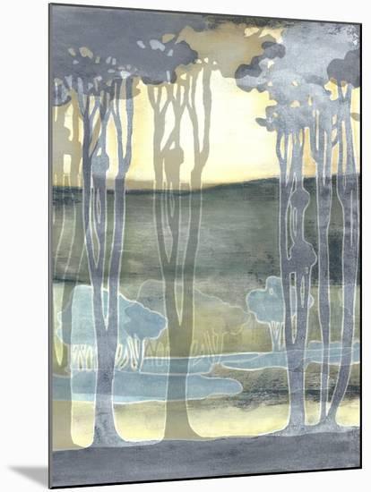 Non-Embellishd Nouveau Landscape II-Jennifer Goldberger-Mounted Art Print