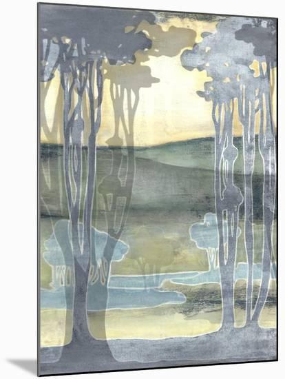 Non-Embellished Nouveau Landscape I-Jennifer Goldberger-Mounted Art Print