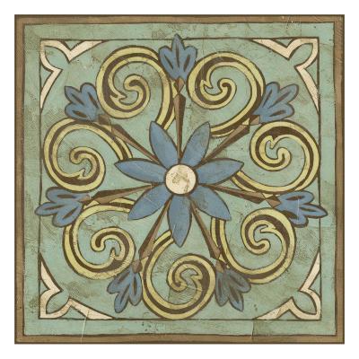 Non-Embellished Ornamental Tile III--Art Print