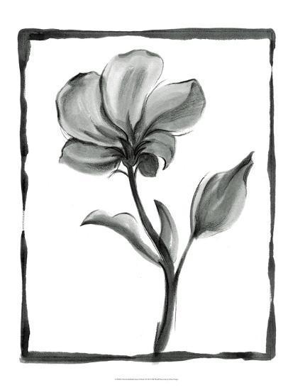 Non-embellished Sumi-e Floral I-Ethan Harper-Art Print
