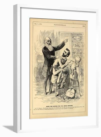 None the Better for Too Much Nursing, 1870-Henry Louis Stephens-Framed Giclee Print