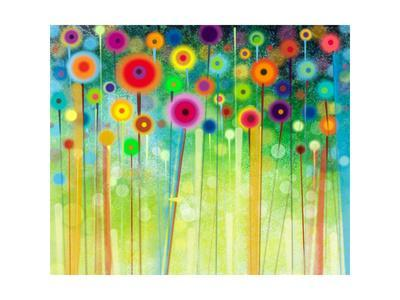 Abstract Flower Paintings in the Meadows