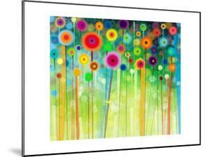 Abstract Flower Paintings in the Meadows by Nongkran_ch