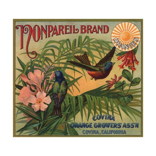 Nonpareil Brand - Covina, California - Citrus Crate Label-Lantern Press-Art Print