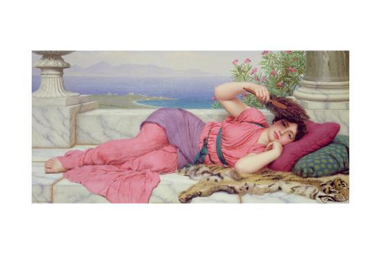 Noon Day Rest, 1910-John William Godward-Giclee Print