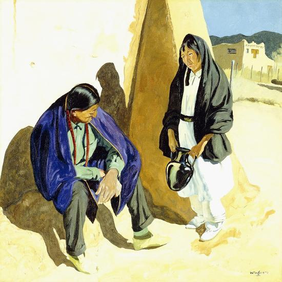 Noon Shadows-Walter Ufer-Giclee Print