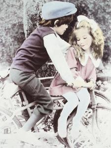 Big Brother and Little Sister on Bike by Nora Hernandez