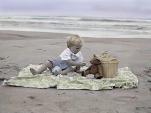 Boy on Beach by Nora Hernandez