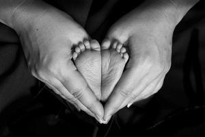 Hands and Baby Feet in a Heart by Nora Hernandez